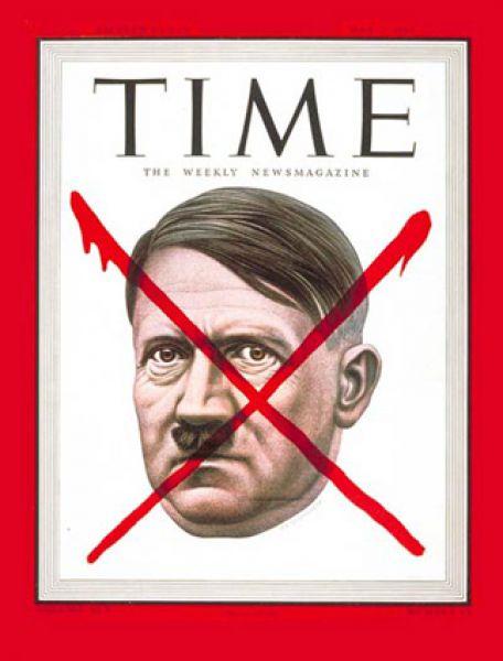 7 мая 1945 года. Падение гитлеровского режима Time отмечает обложкой с перечеркнутым портретом фюрера.