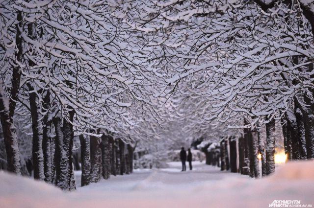 Зима задержалась на праздники