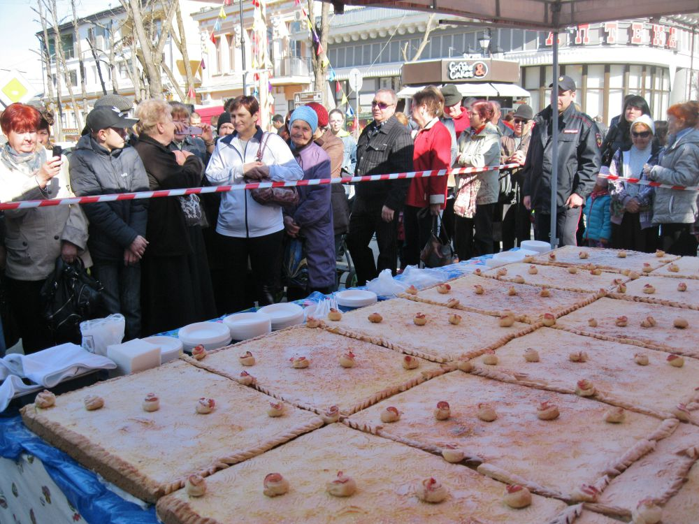 Для симферопольцев и гостей города приготовили творожный пирог