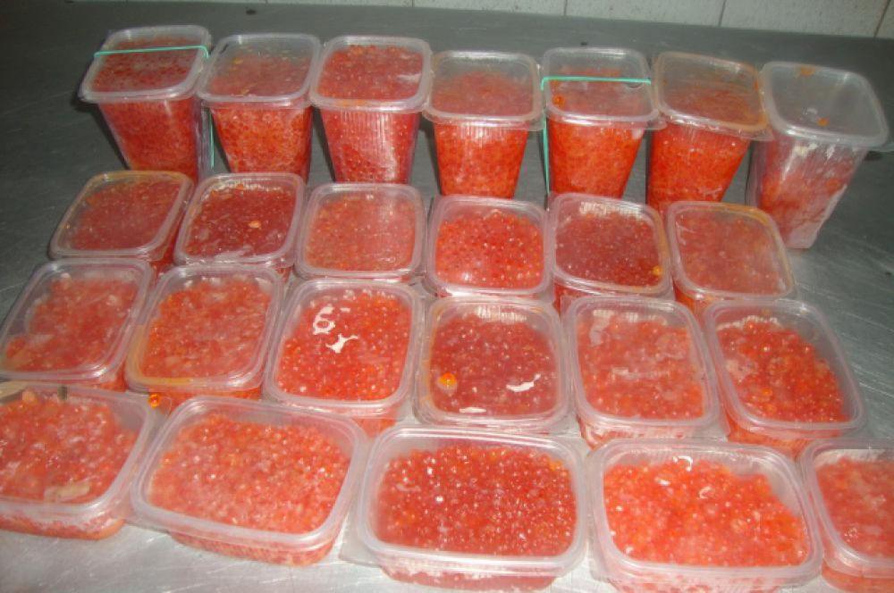 Из оборота изъято 154 кг рыбы охлажденной, 50 кг рыбы вяленой и 6,4 кг красной икры.
