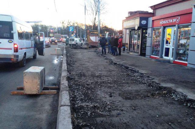 Остановку у бывшего ликерзавода в Калининграде откроют 14 марта.