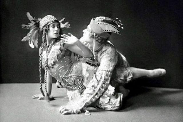 Тамара Карсавина в балете «Жар-птица».
