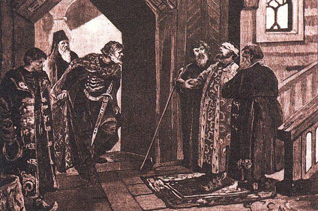 Виктор Муйжель. Свидание Дмитрия Шемяки с князем Василием II Тёмным.