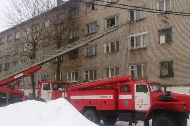 Возгорание произошло на улице Бульварной.