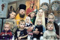 Семья отца Сергия (Рыжова) из поселка Большая Мурта.