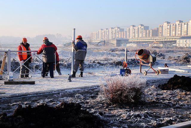 На стадионе к ЧМ-2018 в Калининграде ускоряются темпы строительства