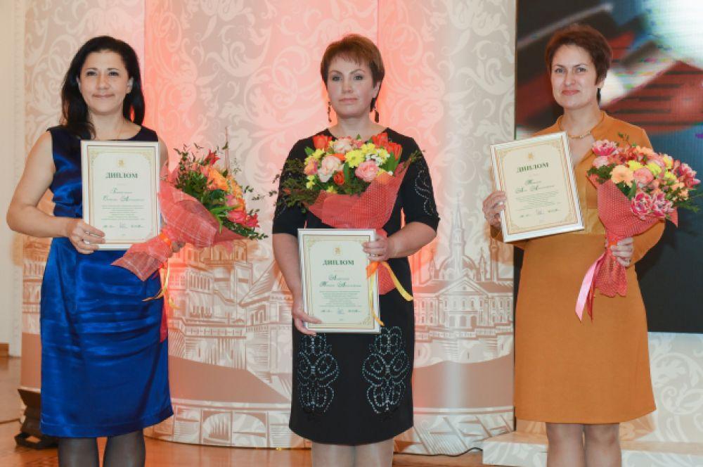 Лучшие педагоги допобразования Светлана Губайдуллина, Татьяна Агафонова и Анна Титова.