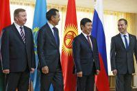 Главы делегаций, участвующих в заседании Евразийского межправительственного совета на уровне премьер-министров стран-членов ЕАЭС.