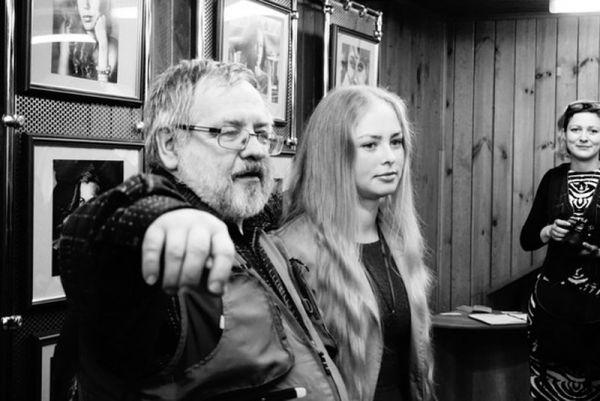 С актрисой Марией Прыскиной – музой фотохудожника