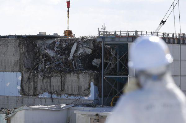 Повреждённый третий блок АЭС Фукусима-1, март 2016 года.