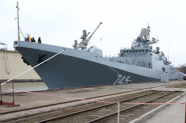 Завод «Янтарь» сообщил Минобороны сторожевой корабль «Адмирал Макаров»