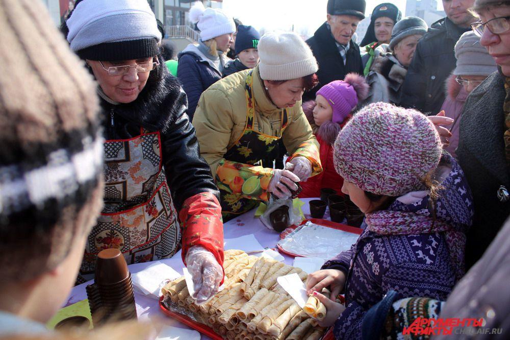 Пришедших на проводы зимы ждал конкурс блинов