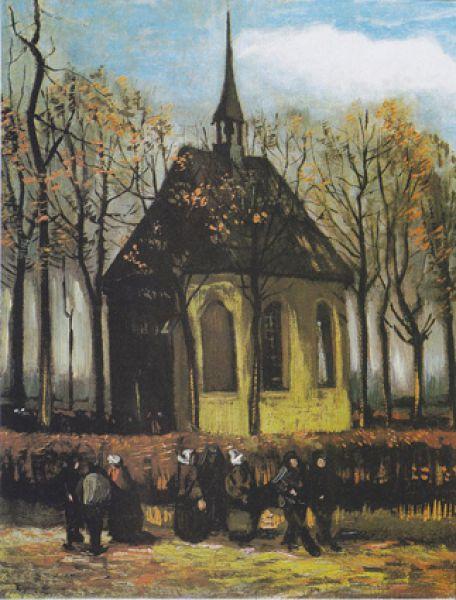 Вместе с ней преступники прихватили ещё одну работу художника «Выход из протестантской церкви в Нюэнене».