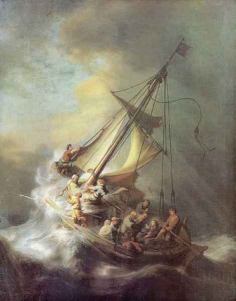 Одно из самых громких и дерзких ограблений XX века произошло 18 марта 1990 года, когда был ограблен Музей Гарднер в Бостоне. В этот день в музей проникли злоумышленники в полицейской форме и вынесли с собой тринадцать экспонатов Рембрандта, Вермеера, Дега, Мане. Самые ценные из украденных работ — это  единственный существующий морской пейзаж Рембрандта «Христос во время шторма на море Галилейском» 1633 года.