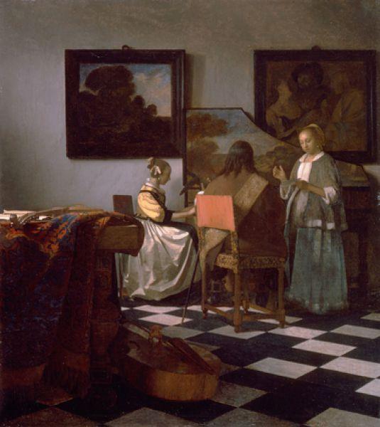 И «Концерт» Яна Вермеера, созданный художником в 1664 году.