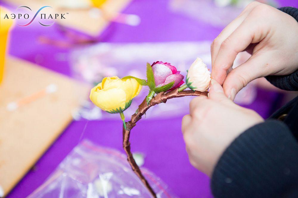 МК Ободок из цветов