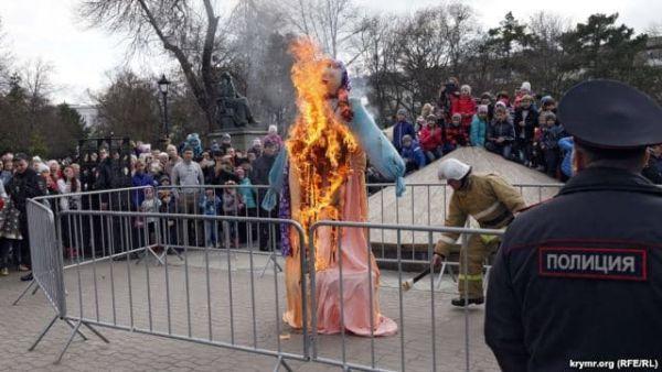 Но, ритуал сожжения чучела состоялся