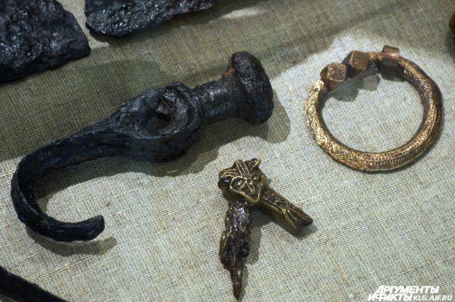 Экспонаты с раскопок на территории Древней Пруссии.