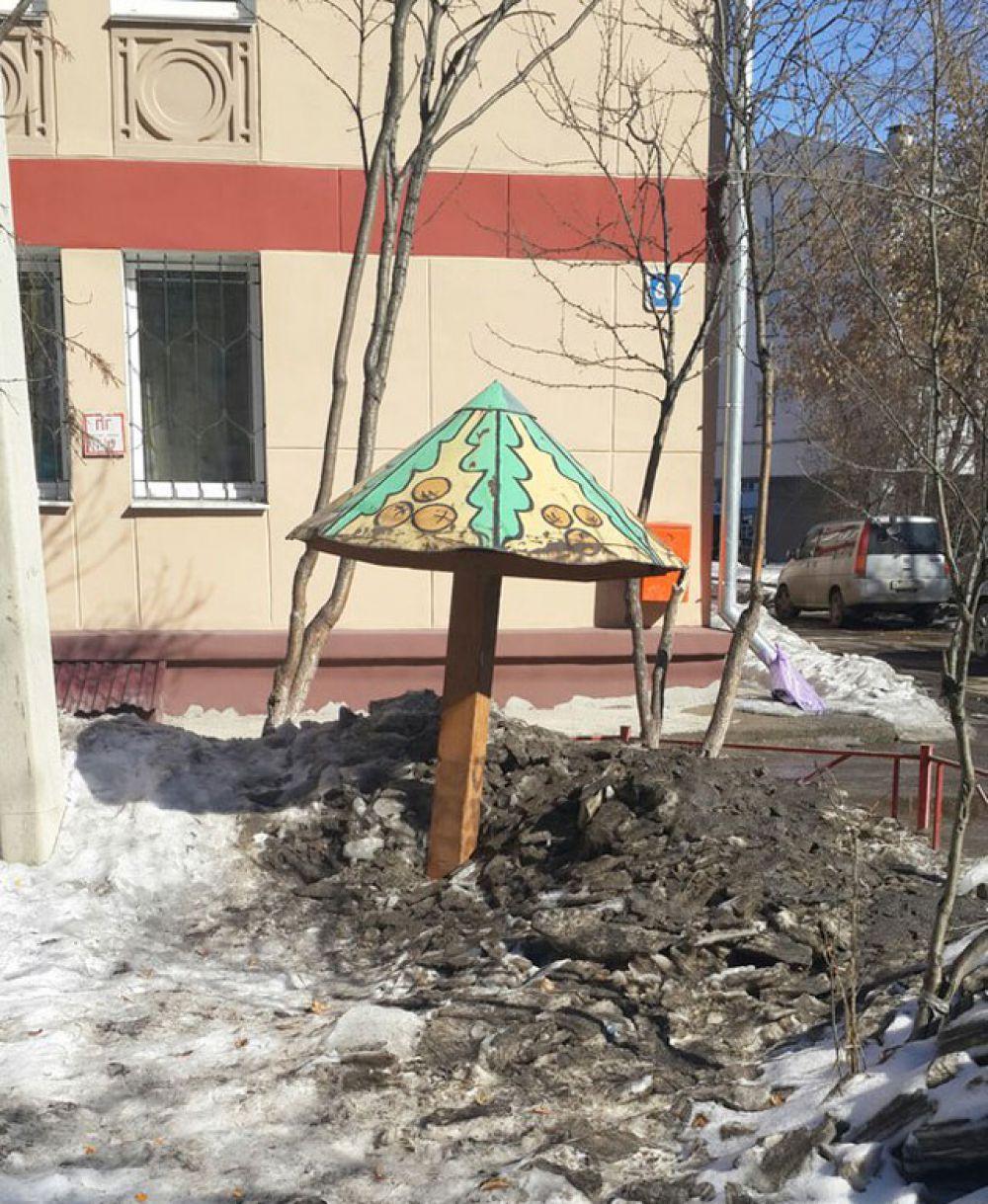 Количества снега, лежащего во дворах, хватит, чтобы обеспечить жителям близлежащих домов весенне-летнюю борьбу с сыростью и невыводимой пылью.