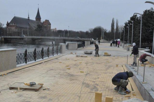 Завершить работы на набережной Трибуца необходимо до 1 апреля.