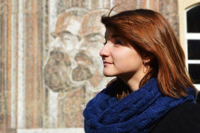 Маргарита Попова у альма-матер - Смоленского государственного университета.