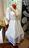 Платье из штапеля с ручной вышивкой 1960 год.