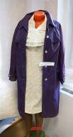 Платье из кримплена(1970 год) и женский болоньевый плащ(1960 год).