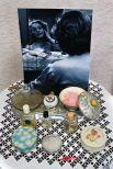 Дамский столик с духами и пудрой.1960 год.
