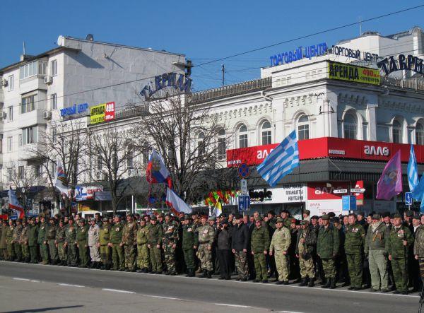 Торжественное построение на площади Ленина