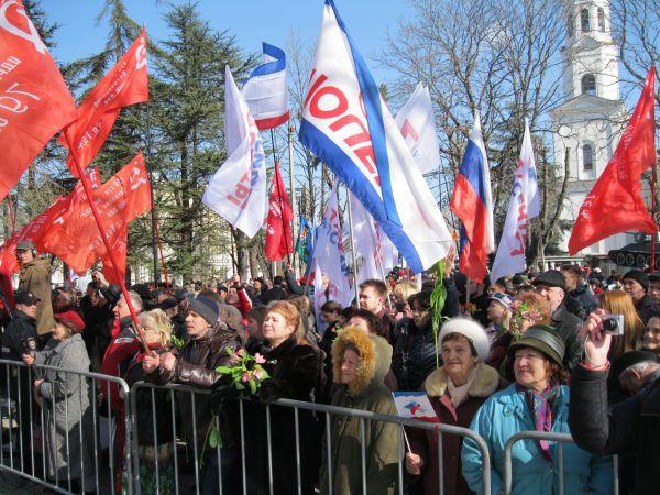 Несмотря на то, что 16 марта – рабочий день, зрителей собралось много