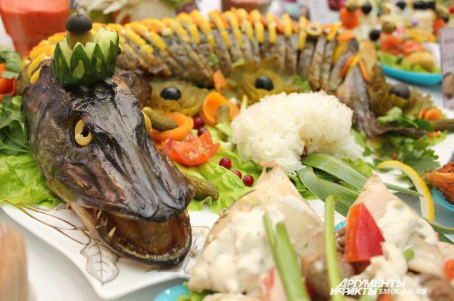 Одно из блюд прошлогодних фестивалей постной кухни.