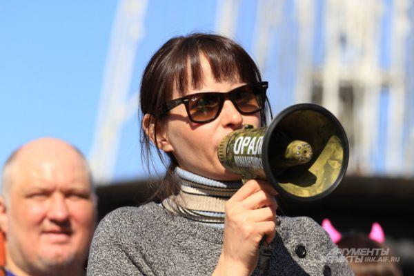 Съемки сцены для фильма «Млечный путь» в центре Иркутска. В этот день здесь собралось несколько тысяч иркутян.