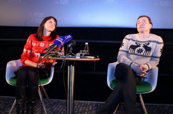 Анна Матисон и Сергей Безруков на премьере фильма «Млечный путь» в Иркутске.