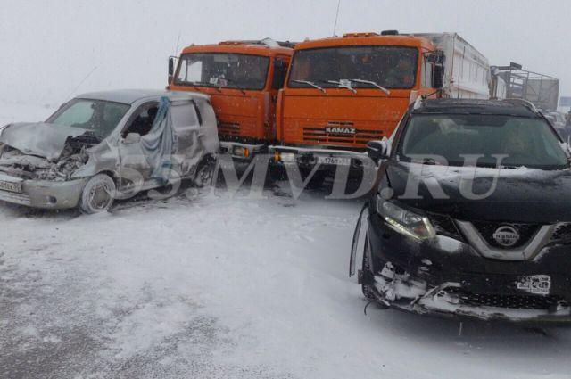 ДТП произошло на федеральной трассе Челябинск-Новосибирск.