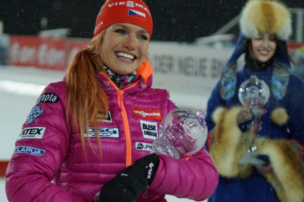 Габриэла Соукалова стала лучшей в спринтерских гонках сезона.