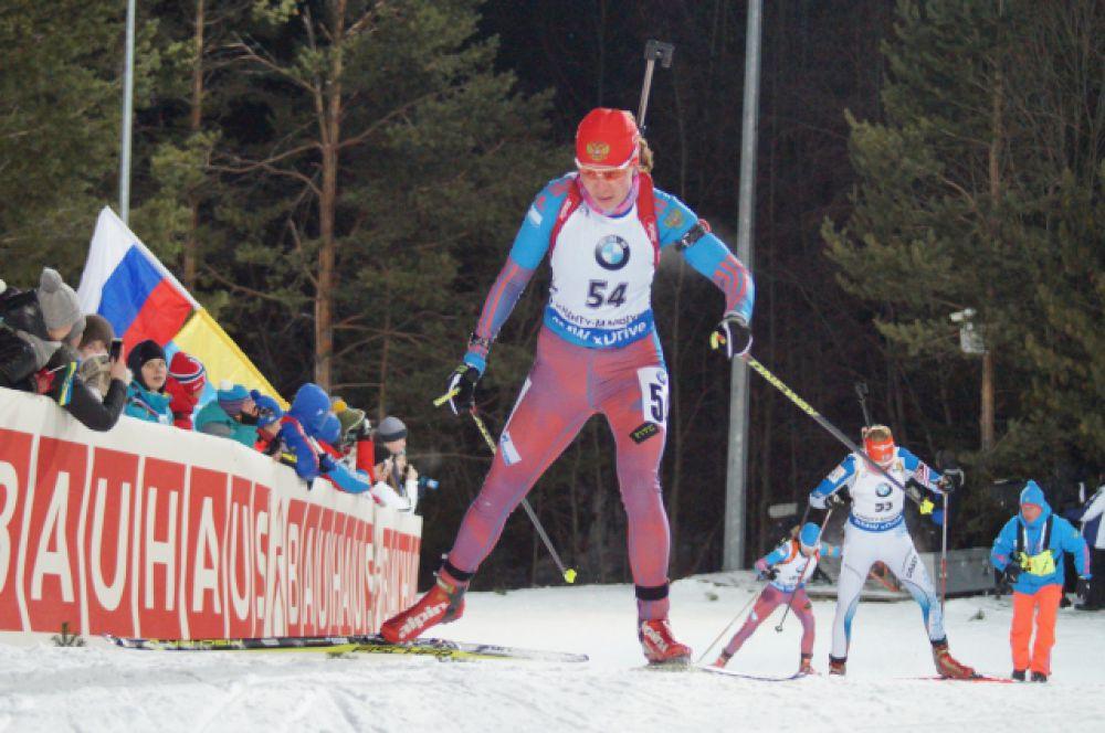 Екатерина Шумилова на дистанции.