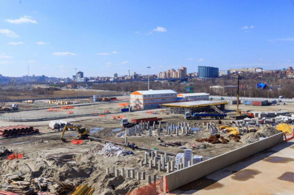 Строительная готовность стадиона составляет 43%. Окончательный срок завершения работ – 25 декабря 2017 года.