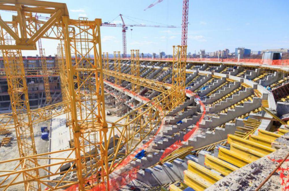 Первые строительные работы на площадке под спорткомплексом для проведения матчей ЧМ по футболу-2018 в Ростове начались летом 2013 года.