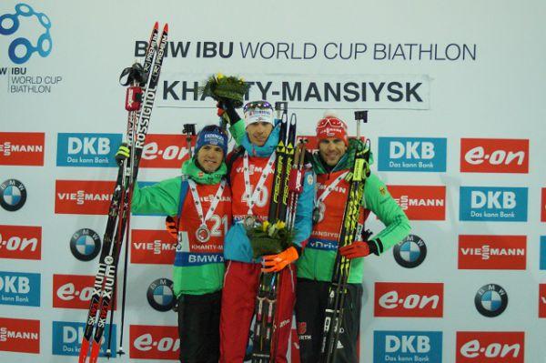 Тройка лидеров: австриец Джулиан Эберхард и немцы Симон Шемп и Арнд Пайффер.