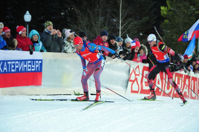 Алексей Слепов во время спринтерской гонки.