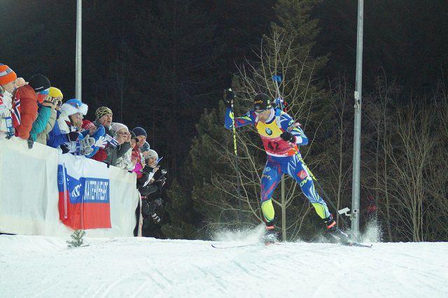 Мартен Фуркад во время спринта.
