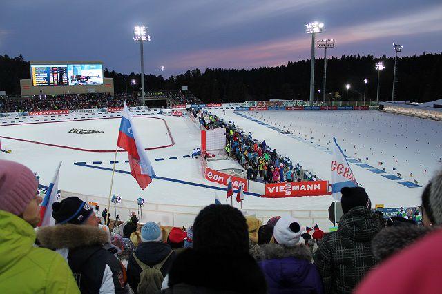 Биатлонный стадион в Ханты-Мансийске.
