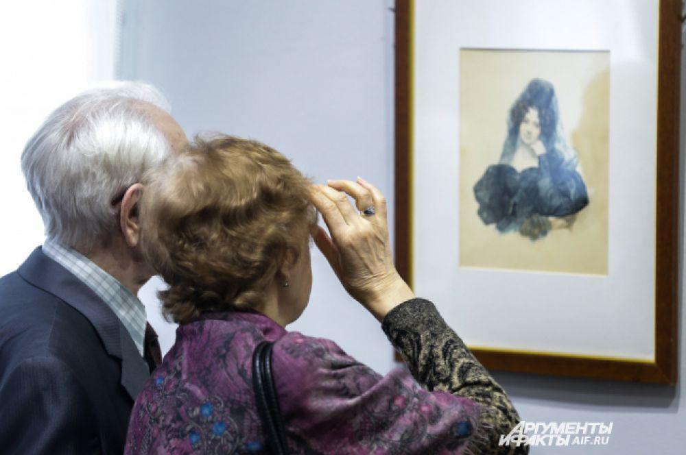 """В Петербурге художник создал галерею образов современников. Он был """"модным художником""""."""