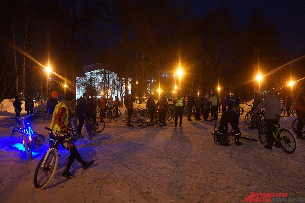 Велосипедный пробег «Велосветлячки» проходит уже в четвёртый раз в Перми.