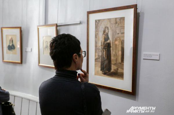 20 произведений графики можно увидеть на выставке.