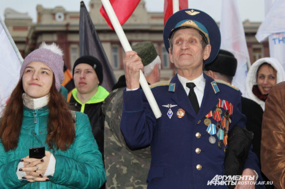 18 марта 2016 года в Ростове-на-Дону состоялась акция, посвященная 2-й годовщине вхождения полуострова Крым в состав России.