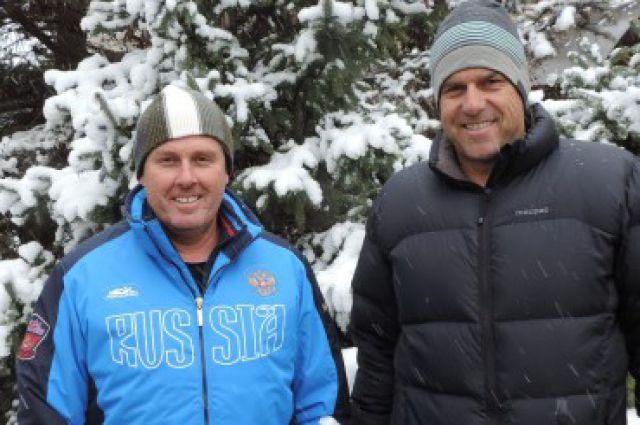 Тренеры сборной России по хоккею на траве Энтони Торнтон и Андерсон Скотт.