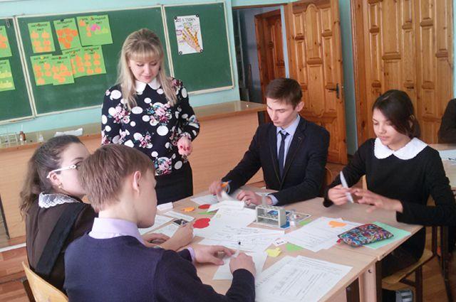 Лилия Гилаева с учениками.