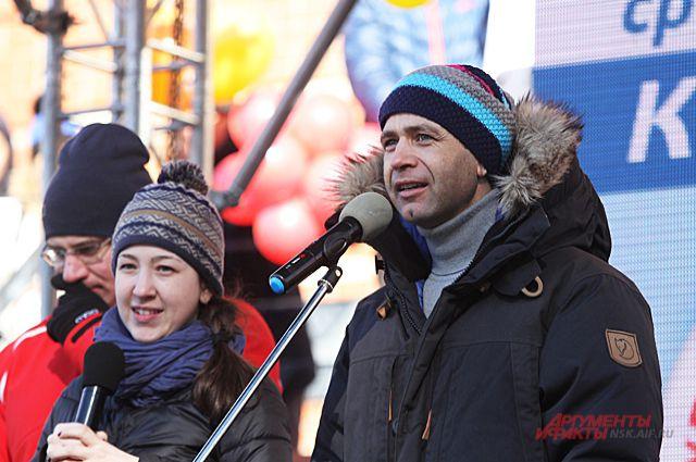 Бьёрндален отметил, что рад визиту в Новосибирск