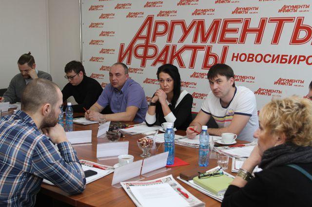 Участники круглого стола в пресс-центре редакции «АиФ на Оби».